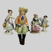 Mid-Century Figural People Made in Japan Figurines Group