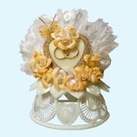Amidan's, Wedding Cake Topper Heart & Butterfly Hand Made 1980's