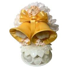 Amidan's Wedding Cake Topper Bells Hand Made 1980's