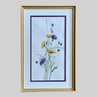 Irma E. Fahlenkamp, Spring Bouquet of Flowers Watercolor Painting