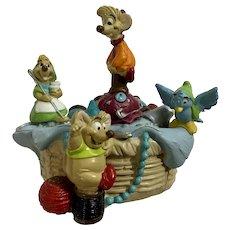 Disney Store Lil Classics Cinderella Mice Gus Jaq & Sewing Basket PVC Figurine