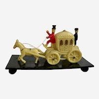 Vintage Celluloid Stage Coach Japan Figurine 1930's-1940's Miniature Toy