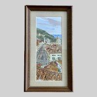 Salem Miller, Dubrovnik Cityscape Watercolor Painting