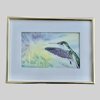 Arleen Brogan Smith, Hummingbird Watercolor Painting