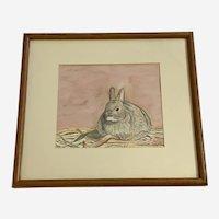 Carolyn Inagaki, Bunny Rabbit Animal Watercolor Painting