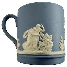 Small Wedgwood Demitasse Cup Blue Jasperware Made in England