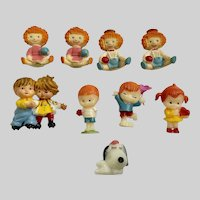 Raggedy Ann, Andy  & Friends 1 inch Miniature Dolls Hong Kong Figures