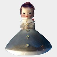Josef Originals Mushroom Girl Birthday March Vintage Japan American Beauty Series Ceramic Figurine California