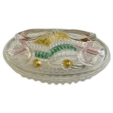 VRE1 Christmas Bells Glass Candy Box by SAVOIR VIVRE