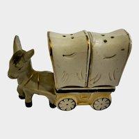 Vintage Donkey Chuck Wagon Salt & Pepper Shakers Japan