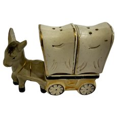 Vintage Donkey Chuck Wagon Salt & Pepper Shakers Japan