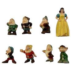 1960s Disneykins Snow White & Seven Dwarfs Marx Walt Disney Productions Figurines