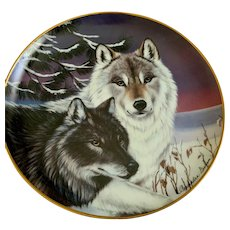 Wolf Plate Twilight Watch The Franklin Mint Collectors Plate