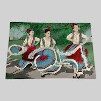 Robert L. Green, Folk dance of Mexico Baile Folklorico Acrylic Painting