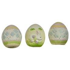 Easter Eggs Bunny Rabbit Made in Sri Lanka Ceramic Figurines