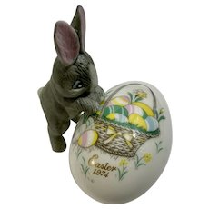Noritake Easter Egg Basket with Wanting Bunny