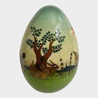 Sermel Easter Egg Tonala Jalisco Mexico Wood Hand Painted Animals