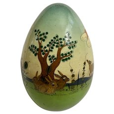 Sermel Easter Egg Tonala Jalisco Mexico Wood Hand Painted Animals