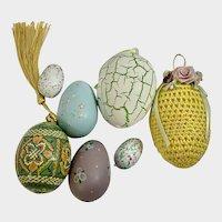 Vintage Easter Basket Eggs Hand Painted Design Group