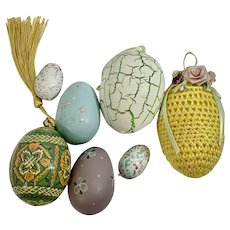 Vintage Easter Basket Eggs Hand Painted Design Group