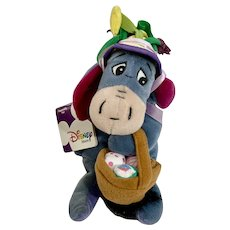 Easter Eeyore Disney Stuffed Plush Animal From Winnie The Pooh