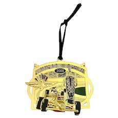 Indianapolis Motor Speedway 2000 Christmas Brass Ornament