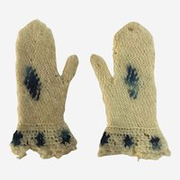 Vintage Children's Knitted Mittens Mid 19th Century From My Family