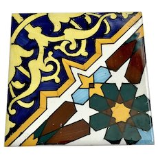 Vintage Ceramic Tile Colorful Designs S-15/1