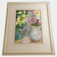Anne Martinez, Floral Still life Watercolor Painting, Colorado Watercolor Society Works on Paper, Signed by Artist