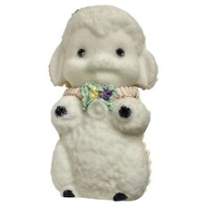 Vintage Easter Sugar Lamb Decoration Figure