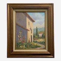 Norma Webb, Moissac-Bellevue French Garden Landscape Oil Painting