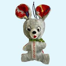 Mid-Century Topo-Gigo Mouse Stuffed Plush Animal