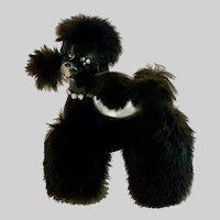 Kreiss Mid-Century Black Poodle Dog Ceramic Figurine Japan