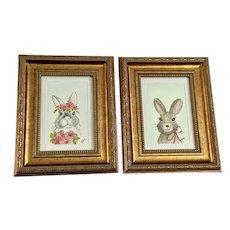 Bernadette Tanberg, Easter Bunny Rabbit Watercolor Paintings Colorado Artist
