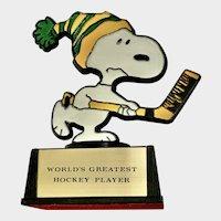 Vintage Snoopy World's Greatest Hockey Player Trophy Aviva