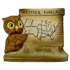 News Weatherman Forecaster Owl Figurine Enesco