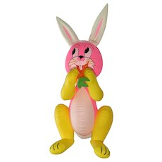 """Vintage Easter Bunny Blow Up Inflatable Rabbit Japan 43"""""""