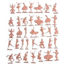 Vintage Pink Dancers & Ballerinas Cake Topper Plastic Miniatures