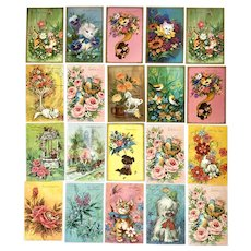 Vintage Animal Greeting Cards Originals by Denice Get Well and Various Notes
