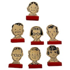 1938 Go To The Head Of The Class School Board Game Pieces