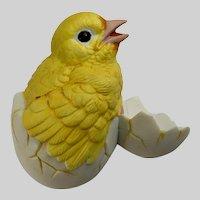 Canary Chick Bird Hatching Egg Andrea By Sadek Ceramic Figurine #8618