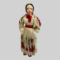 Vintage Spun Cotton Head Ethnic European Doll