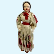 Vintage Spun Cotton Head Ethnic European Doll