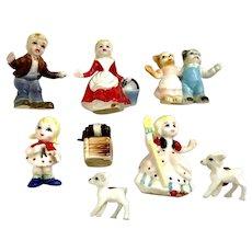 Nursery Rhyme Bone China Miniatures Japan Figurines