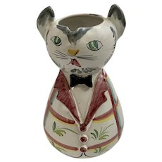 Kitty Cat Water Juice Pitcher Hand Made Italy
