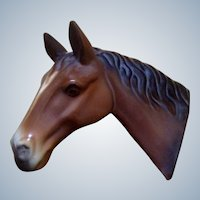 Horse Wall Plaque Figurine Camark Pottery Early 1930's with Original Sticker