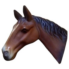 Camark Pottery Early 1930's Horse Wall Plaque with Original Sticker