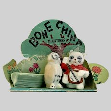 Vintage Owl and the Pussycat Nursery Rhyme Bone China Miniatures