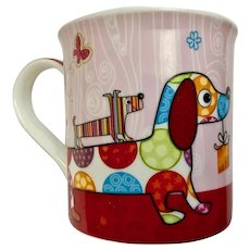 Wiener Party Dogs Coffee Mug Dachshunds Milad Collection