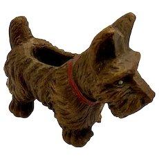 Vintage Scottie Dog Figurine Putz Germany Lineol Elastolin Composition Scottish Terrier